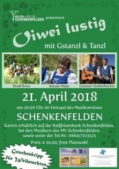 Oiwei lustig - Gstanzl_und Tanzl 2018