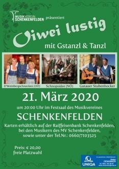 Oiwei lustig mit Gstanzl & Tanzl 2020