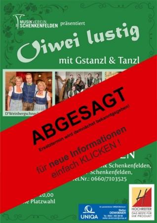 ABGESAGT!! - Oiwei lustig mit Gstanzl & Tanzl 2020